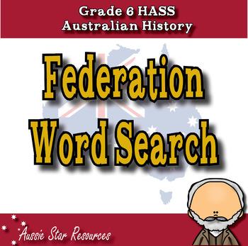 Australian Federation Word Search