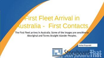 Australian History - First Fleet arrives in Australia - First Contact