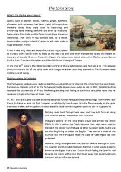 Australian History - Early Explorers The Spice Islands - Vasco da Gama Magellan