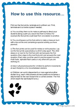 FREE Foot Prints for Review and Skills Practise