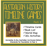 Australian History Timeline Cards, Games and Activities Di
