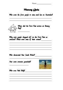 Australian Histroy Quiz