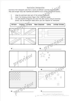 Australian Immigration Slides and Worksheets
