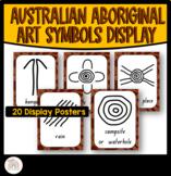 Australian Indigenous Aboriginal Art Symbol Display Posters - Dot Painting
