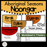 Noongar Australian Indigenous Aboriginal Seasons Calendar & Worksheet - Nyoongar