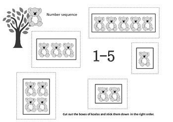 Australian Koala Number Math Ten Frames (Subitizing) & Number Activities K-1