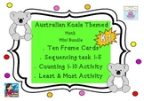 Australian Koala Number Math Ten Frames (Subitizing) & Number Activities K-1