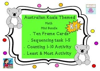 Australian Koala Number Math Ten Frames (Subitizing) & Num