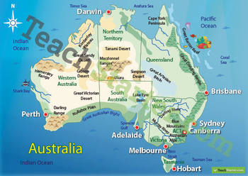 Australian Landform Map