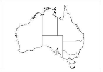 Map Of Australian Landscapes.Australian Landscapes Mapping Task