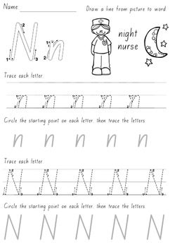 Australian Letter Formation Practice Pages: includes all state fonts