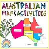 Australian Map Display and Geography Activities