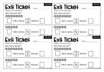 Australian Maths Exit Tickets - Addition and Subtraction