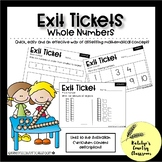 Australian Maths Exit Tickets - Whole Number