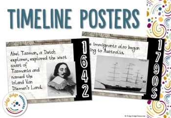 Australian Migration and Immigration Timeline Posters and Activities
