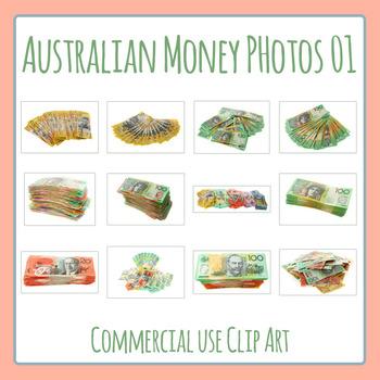 Australian Money 01 Photos Clip Art Set for Commercial Use