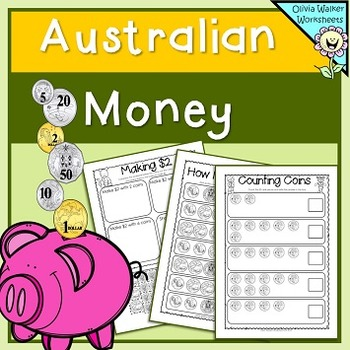 Australian Money (Lower Primary) Count the Coins, Money Matching, Ordering Money