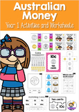 Australian Money Activities and Worksheets Year 1