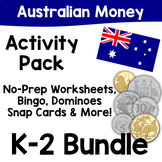 Australian Money Activity Pack - K-2 Bundle