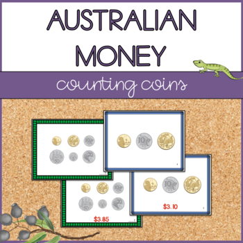 Australian Money - Adding Up Coins - Task Cards