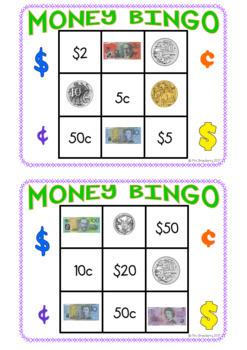 australian money bingo game by mrs strawberry teachers pay teachers. Black Bedroom Furniture Sets. Home Design Ideas