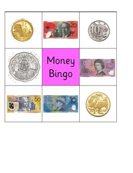 australian money bingo by nikki d teachers pay teachers. Black Bedroom Furniture Sets. Home Design Ideas
