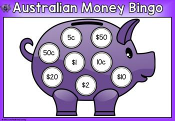 Australian Money Bingo Game