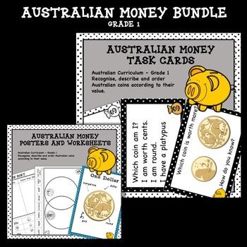 Australian Money Bundle Higher Order Thinking HOTS Grade 1