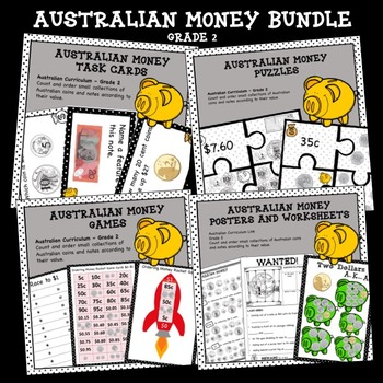 Australian Money Bundle Higher Order Thinking HOTS Grade 2