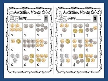 Australian Money Bundle Pack: Worksheets and Games