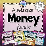 Australian Money Bundle Worksheets, Task Cards and Games