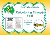 Australian Money Calculating Change Tool