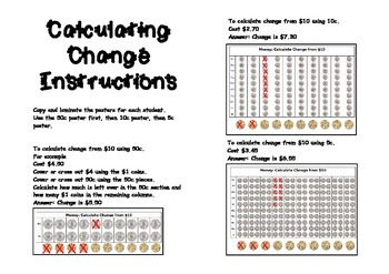 australian money calculating change tool by jbee educational resources. Black Bedroom Furniture Sets. Home Design Ideas