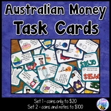 Australian Money Task Cards Notes & Coins to $100