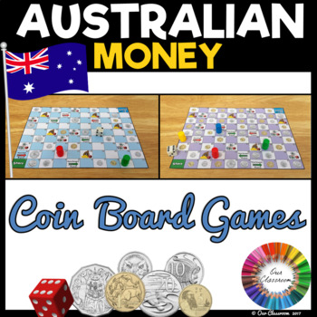 Australian Money Coin Game (includes 2 board games)
