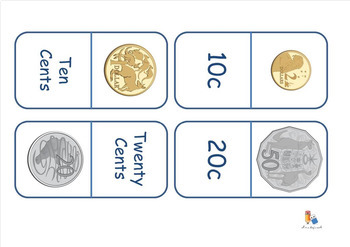 Australian Money - Coin Recognition Dominoes