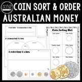 #ausbts18 Australian Money Coin Sort and Ordering Activities + Assessment