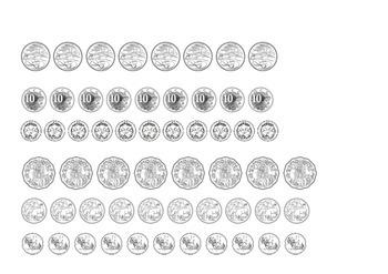 *Australian Money* Coins Adding Amounts (multiples of 10)