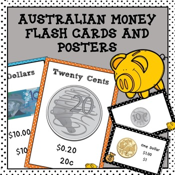 Australian Money Flash Cards and Posters