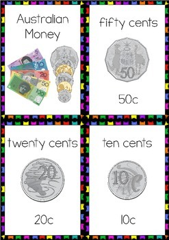 Australian Money Flashcards #btsfresh