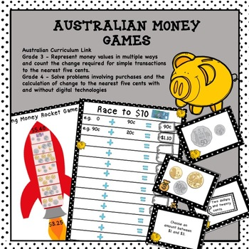 Australian Money Game Higher Order Thinking HOTS Grades 3 and 4