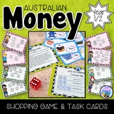 Australian Money Game, Scoot Game and Task Cards Year 1/2