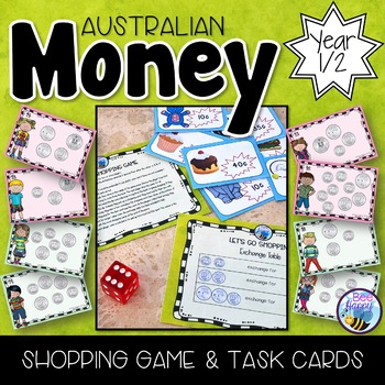Australian Money Shopping Game and Task Cards Year 1/2