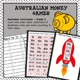 Australian Money Games Higher Order Thinking HOTS Grade 2