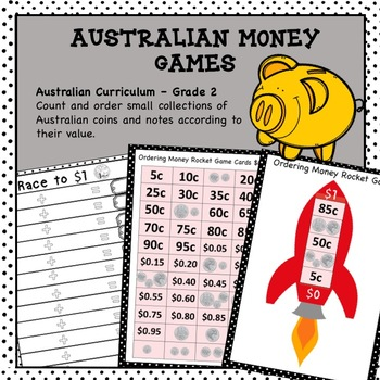 Australian Money Games Higher Order Thinking HOTS Grade 2