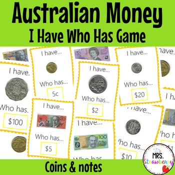 Australian Money I Have Who Has Game