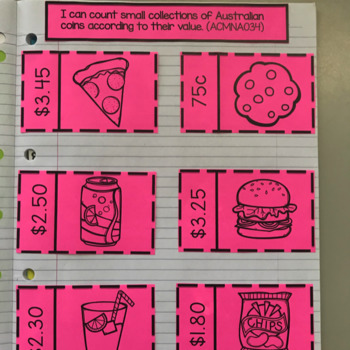 Australian Money Interactive Notebook Pages