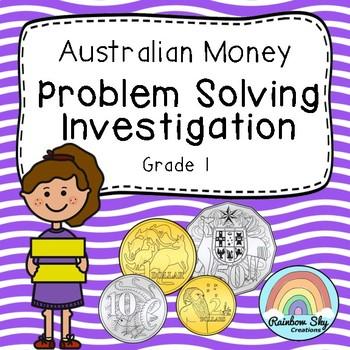 Australian Money Investigation - Money word problem - Year 1