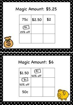 Australian Money Magic Squares Higher Order Thinking HOTS Grade 6