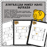 Australian Money Magic Squares Higher Order Thinking HOTS
